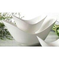 CAC SHER-78 Sheer 8 1/2 inch Bone White Porcelain Spirit Dish - 24/Case