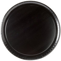 Solut 74553 13 inch Take and Bake Pizza Tray Coated Corrugated Black - 10/Pack