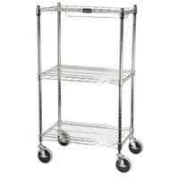 Rubbermaid FG9G5900CHRM Chrome Two Shelf Mobile Rack 18 inch x 26 inch x 47 3/4 inch