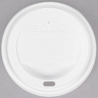 Dart Solo TLP316-0007 Traveler White Dome Hot Cup Lid with Sip Hole - 100/Pack