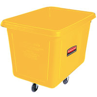 Rubbermaid FG461200YEL Yellow 12 Cu. Ft. Bulk Cube Truck (400 lb.)