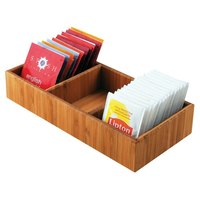 Cal-Mil 1246 Bamboo Packet Organizer - 9 1/2 inch x 4 1/2 inch x 2 1/4 inch