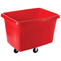 Rubbermaid FG461400RED Red 14 Cu. Ft. Bulk Cube Truck (500 lb.)