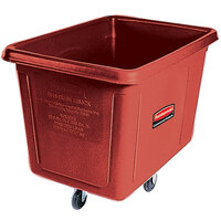 Rubbermaid FG460800RED Red 8 Cu. Ft. Bulk Cube Truck (300 lb.)