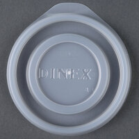 Dinex DXTT65 Translucent Disposable Lid for Royal Legacy 5 oz. Bowl and 8 oz. Mug - 2000 / Case