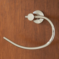 Crescent Suite Towel Ring with Bright Finish