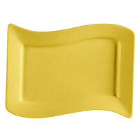 CAC SOH-13YW Color Soho 12 inch x 8 inch Rectangular China Platter - Yellow - 12/Case