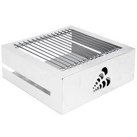 Eastern Tabletop 3253 Q-Bik Station Stainless Steel 1 Level Butane Stove Cover Up with Removable Grill Top