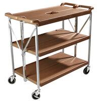 Carlisle SBC203125 Fold 'N Go 20 inch x 31 inch Tan Folding Utility Cart