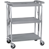 Carlisle SBC152123 Fold 'N Go 15 inch x 21 inch Gray Folding Utility Cart