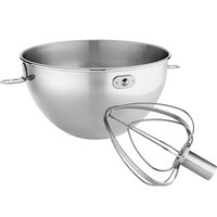 KitchenAid KN3CW Stainless Steel 3 qt. Mixing Bowl and Whip for Stand Mixers