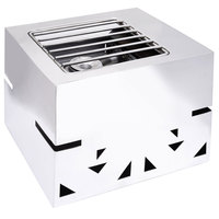 Eastern Tabletop 3274 LeXus Action Station Stainless Steel Raised Butane Stove Cover Up with Grill Top