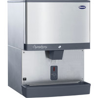 Follett 110CM-NI-LI Symphony Plus 110 lb. Manual Fill Countertop Ice Dispenser with Lever Dispensing