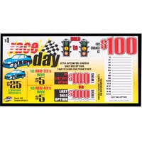 Race Day 1 Window Pull Tab Tickets - 300 Tickets Per Deal - Total Payout: $250