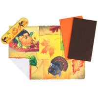 Hoffmaster 856766 10 inch x 14 inch Happy Thanksgiving Placemat Combo Pack - 250/Case