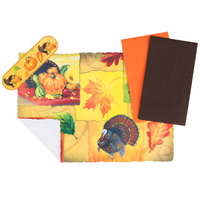 Hoffmaster 856766 10 inch x 14 inch Happy Thanksgiving Placemat Combo Pack - 250 / Case