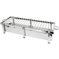 Eastern Tabletop 3259G Heavy Duty 38 inch x 16 inch Stainless Steel Grill Stand with Removable Grill Top