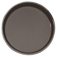 "Cambro PT1400167 Brown 14"" Round Polytread Serving Tray"