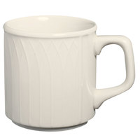 Homer Laughlin 7000-332 Gothic 9 oz. American White (Ivory / Eggshell) China Stack Mug - 36/Case