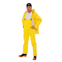 Yellow 3 Piece Rainsuit - Large