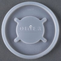 Dinex DX20029000 Translucent Disposable Lid for Dinex 43633 Lafayette 7.6 oz. PC Tumbler, Cambro NT8 Newport 7.7 oz. Tumbler, Dinex 43663 8 oz. Swirl PC Tumbler, and Cambro HT8CW Camwear Huntington 8 oz. Squat Tumbler - 1500/Case