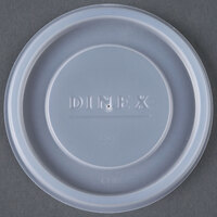 Dinex DX11988714 Translucent Disposable Lid for Carlisle 5506 Stackable 9.5 oz. Tumbler, Carlisle 5512 Pebble Optic 12 oz. Tumbler, and Cambro 950CP Tumblers - 1000/Case