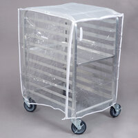 Clear Vinyl Half-Size Bun Pan Rack Cover