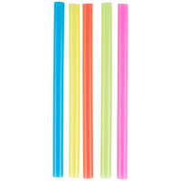 Choice 8 1/2 inch Colossal Neon Unwrapped Straw - 4000 / Case