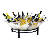 Buffet Enhancements 1BLRE32 Round Iron Ice Display with 31 inch Tray and Black Base