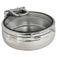 Eastern Tabletop 3989G Jazz Rock 4 Qt. Stainless Steel Round Induction Chafer with Hinged Glass Dome Cover