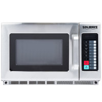 Solwave 1200W Stackable Commercial Microwave with Large 1.2 cu. ft. Interior and Push Button Controls - 120V