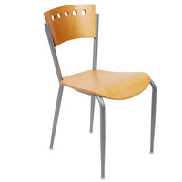 Lancaster Table &amp&#x3b; Seating Natural Finish Cafe Chair