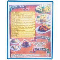 Menu Solutions H500C SKY Hamilton 8 1/2 inch x 11 inch Single Panel / Two View Sky Heat Sealed Menu Board