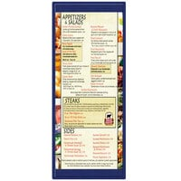 Menu Solutions K22BA BLUE K22-Kent 4 1/4 inch x 11 inch Single Panel / Double-Sided Blue Menu Board