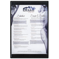 Menu Solutions K22A BLACK K22-Kent 5 1/2 inch x 8 1/2 inch Single Panel / Double-Sided Black Menu Board