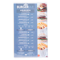 Menu Solutions CHS300D 8 1/2 inch x 14 inch Triple Panel / Six View Clear Heat Sealed Menu Cover - 12/Pack