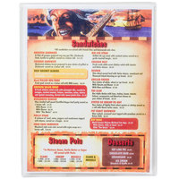 Menu Solutions CHS100A 6 inch x 9 1/2 inch Single Panel / Two View Clear Heat Sealed Menu Cover - 12/Pack