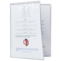 Menu Solutions CHS800C 8 1/2 inch x 11 inch Quad Booklet / Eight View Clear Heat Sealed Menu Cover - 12/Pack