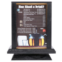 Menu Solutions WT-4S7 5 inch x 7 inch Rotating Four Sided Wood Table Tent