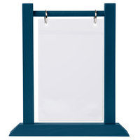 Menu Solutions WFT4S-A 4 inch x 6 inch Denim Wood Flip Top Table Tent