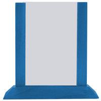 Menu Solutions WPF4S-B 5 inch x 7 inch True Blue Wood Table Tent