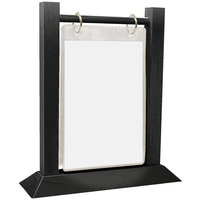 Menu Solutions WFT4S-B 5 inch x 7 inch Black Wood Flip Top Table Tent