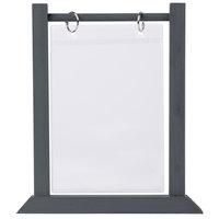 Menu Solutions WFT4S-B 5 inch x 7 inch Ash Wood Flip Top Table Tent