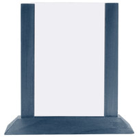 Menu Solutions WPF4S-B 5 inch x 7 inch Denim Wood Table Tent