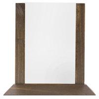 Menu Solutions WPF4S-B 5 inch x 7 inch Walnut Wood Table Tent