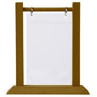 Menu Solutions WFT4S-B 5 inch x 7 inch Walnut Wood Flip Top Table Tent