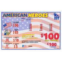 American Heroes 1 Window Pull Tab Tickets - 720 Tickets Per Deal - Total Payout: $595