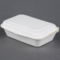 EcoChoice Biodegradable, Compostable Sugarcane / Bagasse 4 inch x 6 1/2 inch x 2 inch Takeout Container - 500 / Case