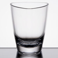 GET SW-1434-CL 3 oz. SAN Plastic Triangle Petite Dessert Glass - 24/Case
