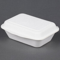 EcoChoice Biodegradable, Compostable Sugarcane / Bagasse 7 inch x 5 inch X 2 1/2 inch Takeout Box - 500 / Case